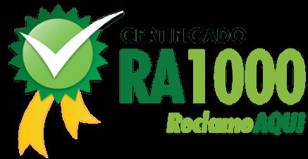 Certificado RA1000 do ReclameAQUI